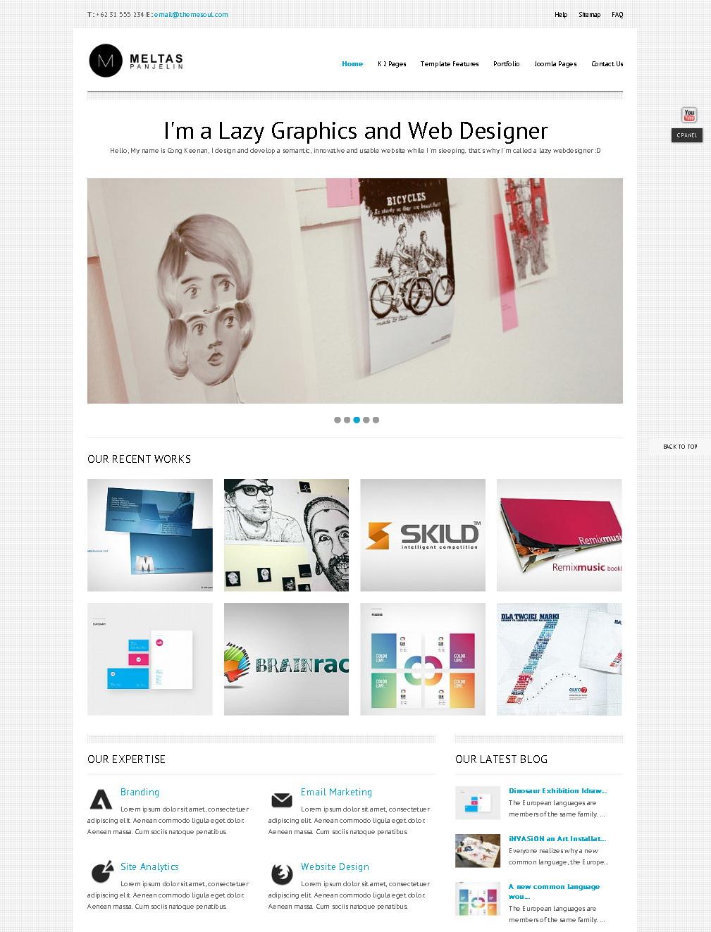 Блоги с минималистичным дизайном