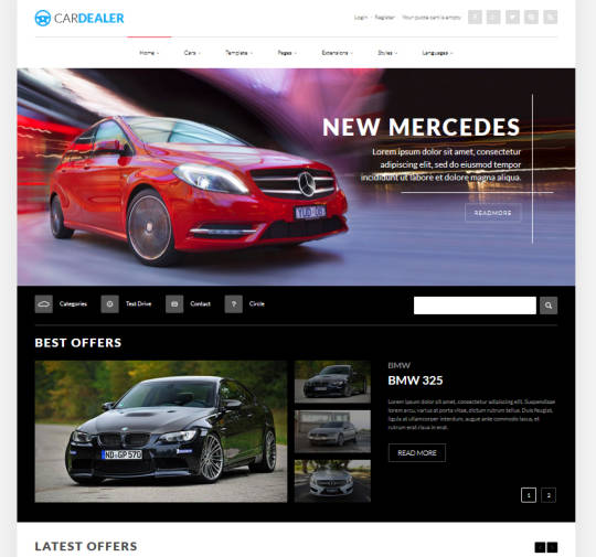 Автомобильный шаблон JM Car Dealer для Joomla