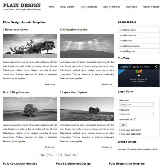 Шаблон для Joomla 3 JSR Plain Design