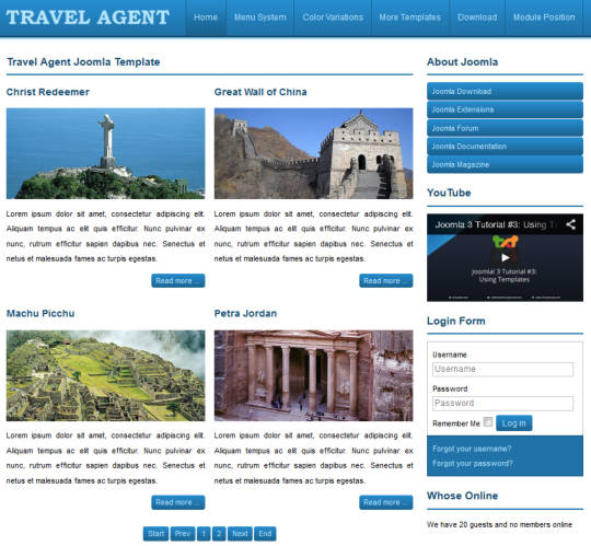 ������ ������������� Joomla-������ JSR Travel Agent