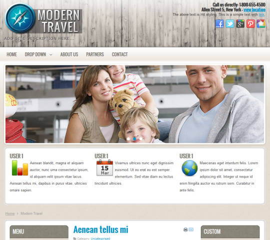 ������������� ������ Modern Travel ��� CMS Joomla